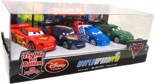 Disney / Pixar Cars Cars 2 Light Up World Grand Prix Exclusive Diecast Car Set [Set #2, Damaged Package]