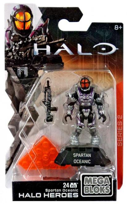 Mega Bloks Halo Heroes Series 2 Spartan Oceanic Mini Figure