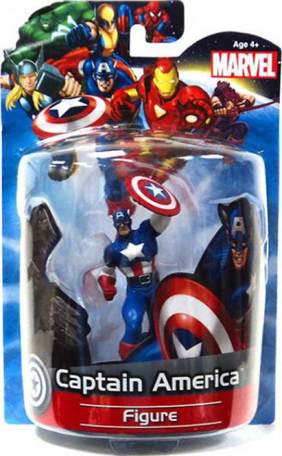 Marvel 4 Inch Deluxe Figures Captain America PVC Figure [Damaged Package]