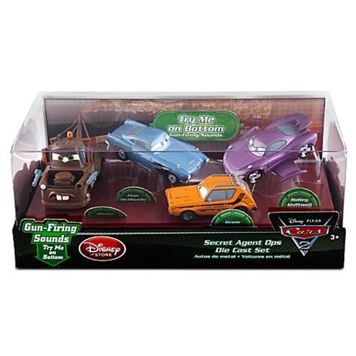 Disney / Pixar Cars Cars 2 1:43 Multi-Packs Secret Agent Ops Exclusive Diecast Car Set [Damaged Package]