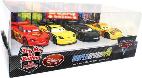 Disney / Pixar Cars Cars 2 Light Up World Grand Prix Exclusive Diecast Car Set [Set #1, Damaged Package]