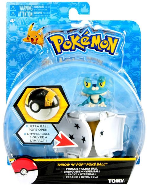 Pokemon Throw 'n' Pop Pokeball Froakie & Ultra Ball Figure Set