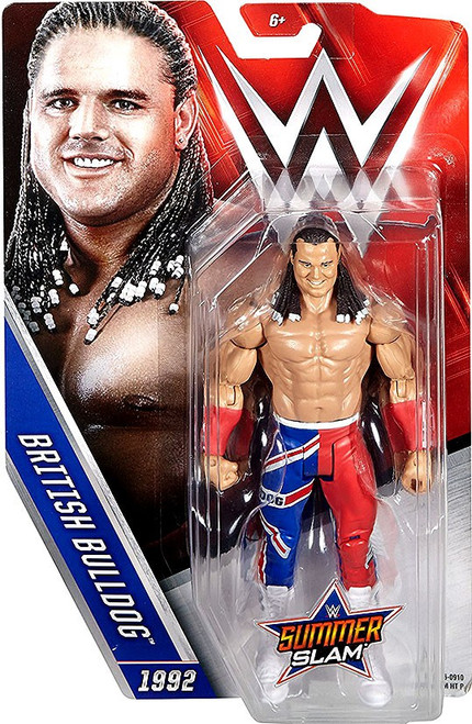 WWE Wrestling Summer Slam British Bulldog Action Figure [1992]