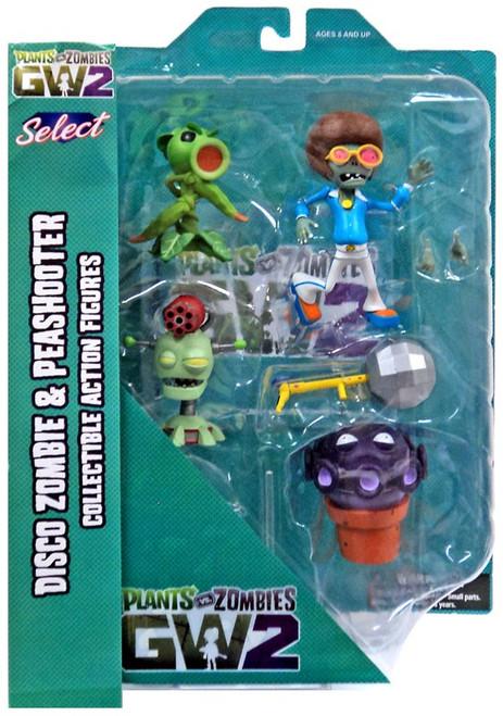 Plants vs. Zombies Garden Warfare 2 Select Series 1 Peashooter vs. Disco Zombie Action Figure