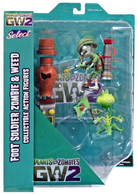 Plants vs. Zombies Garden Warfare 2 Select Series 1 Weed vs. Soldier Zombie Action Figure