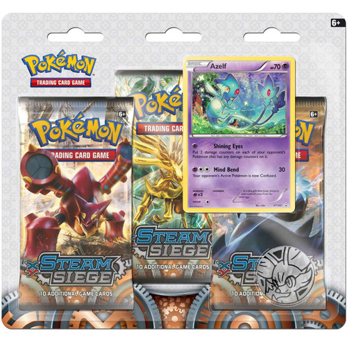 Pokemon Trading Card Game XY Steam Siege Azelf Special Edition [3 Booster Packs, Promo Card & Coin]