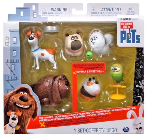 The Secret Life of Pets Mel, Gidget, Max, Duke, Sweet Pea & Norman Exclusive Figure 6-Pack