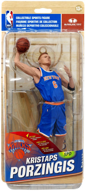 McFarlane Toys NBA New York Knicks Sports Picks Series 29 Kristaps Porzingis Action Figure [Blue Jersey]