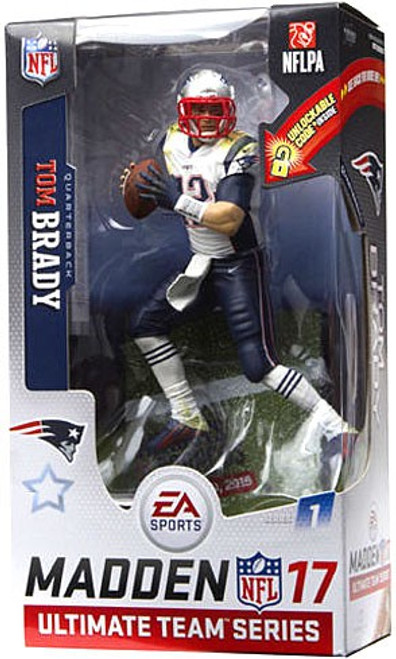 McFarlane Toys NFL New England Patriots EA Sports Madden 17 Ultimate Team Series 1 Tom Brady Action Figure [White Jersey]