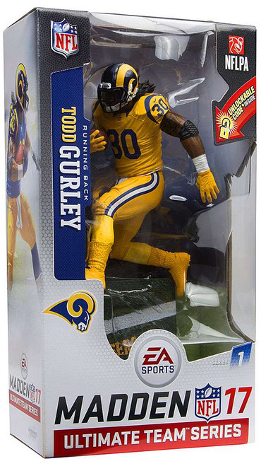 McFarlane Toys NFL Los Angeles Rams EA Sports Madden 17 Ultimate Team Series 1 Todd Gurley Action Figure [Color Rush Uniform]