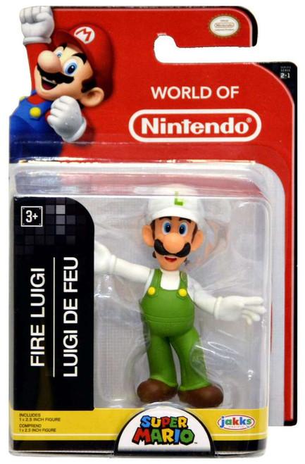 World of Nintendo Super Mario Fire Luigi 2.5-Inch Mini Figure
