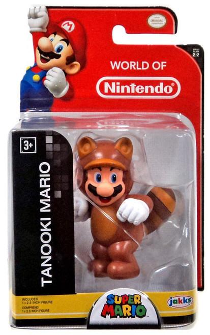 World of Nintendo Super Mario Wave 21 Tanooki Mario 2.5-Inch Mini Figure