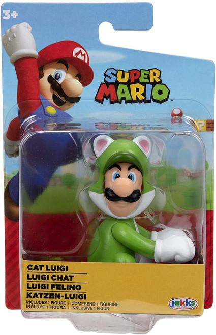 World of Nintendo Super Mario Cat Luigi 2.5-Inch Mini Figure