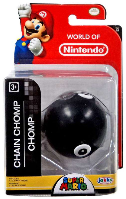World of Nintendo Super Mario Chain Chomp 2.5-Inch Mini Figure