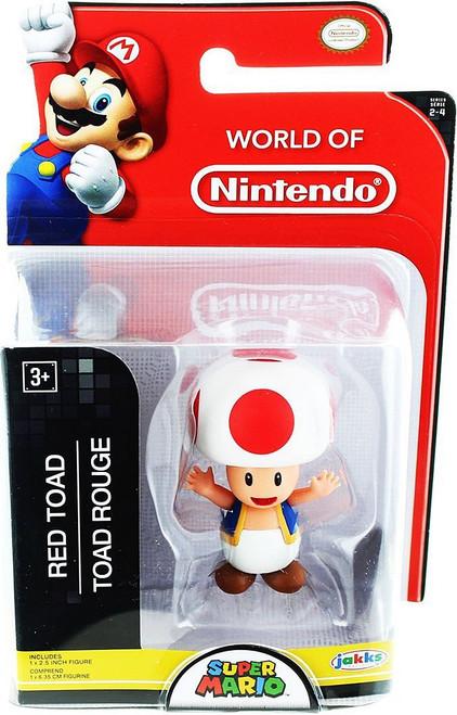 World of Nintendo Super Mario Red Toad 2.5-Inch Mini Figure