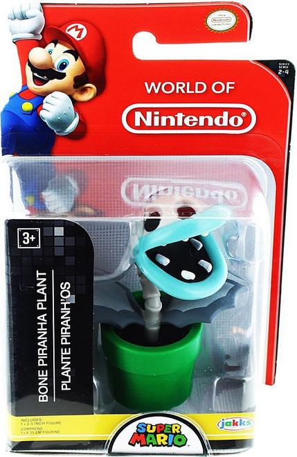 World of Nintendo Super Mario Bone Piranha Plant 2.5-Inch Mini Figure