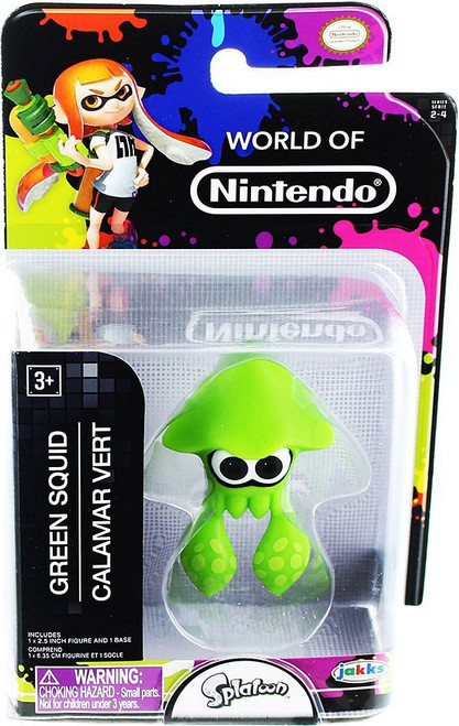 World of Nintendo Splatoon Green Squid 2.5-Inch Mini Figure