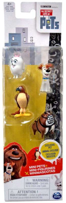 The Secret Life of Pets Mini Pets Max, Gidget, Tiberius & Bulldog Henchman Figure 4-Pack