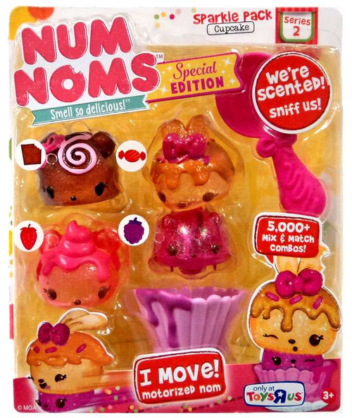Num Noms Series 2 Sparkle Pack Cupcake Exclusive Starter 4-Pack [Special Edition]