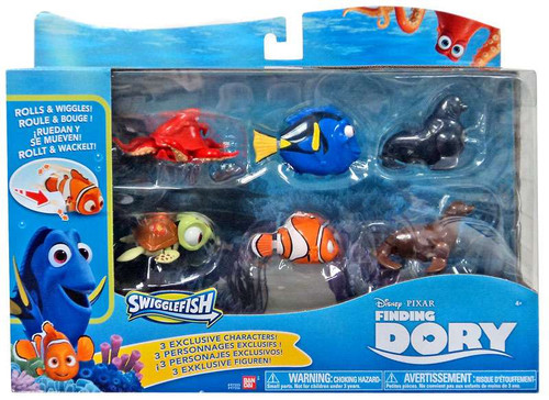 Disney / Pixar Finding Dory Swigglefish Exclusive Figure 6-Pack