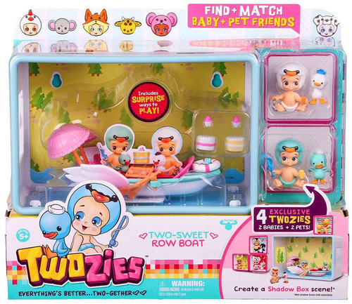 Twozies Two-Sweet Row Boat Mini Playset