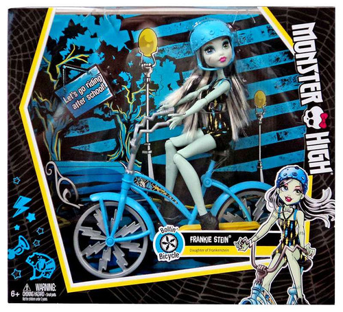 Monster High How Do You Boo? Boltin' Bicycle Frankie Stien 10.5-Inch