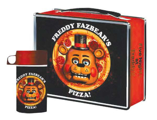 NECA Five Nights at Freddy's Pizza! Tin Lunch Box & Container