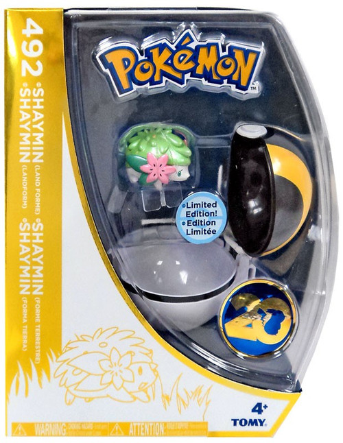 Pokemon 20th Anniversary Clip n Carry Pokeball Shaymin with Ultra Ball Figure Set [20th Anniversary]
