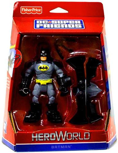 Fisher Price DC Super Friends Hero World Batman Action Figure [Damaged Package]