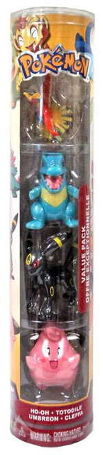 Pokemon Value Pack Exclusive Figure Set [Ho-oh, Totodile, Umbreon, & Cleffa]