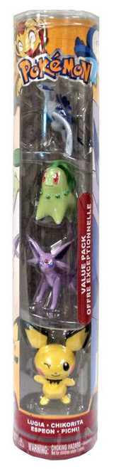 Pokemon Value Pack Figure Set [Lugia, Chikorita, Espeon & Pichu]