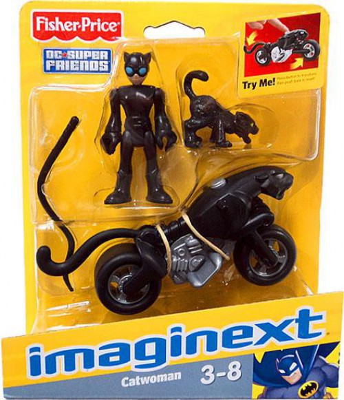 Fisher Price DC Super Friends Imaginext Catwoman Figure Set