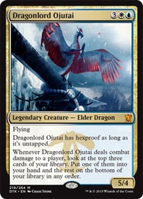 MtG Dragons of Tarkir Mythic Rare Foil Dragonlord Ojutai #219