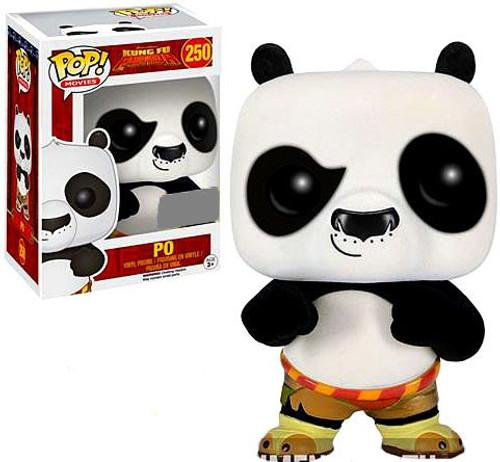 Funko Kung Fu Panda POP! Movies Po Exclusive Vinyl Figure #250 [Flocked]