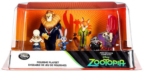 Disney Zootopia 6-Piece PVC Figure Play Set [Judy, Nick, Mayor Lionheart, Bellwether, Mr. Big & Baby elephant]