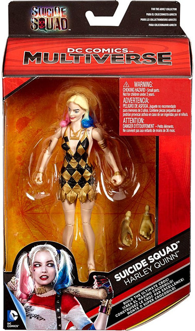 DC Suicide Squad Multiverse Ultimate Croc Series Harley Quinn Exclusive Action Figure [Gold & Black Dress]