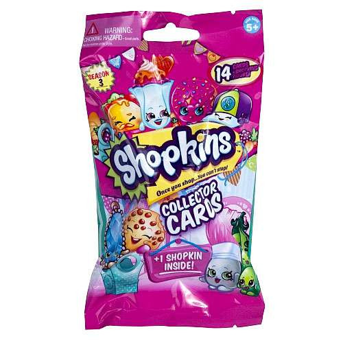 Shopkins Season 3 Deluxe Trading Card Pack