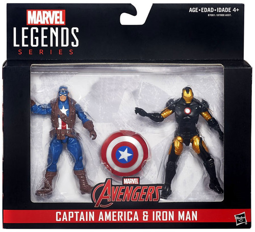 Marvel Legends Captain America & Iron Man Action Figure 2-Pack