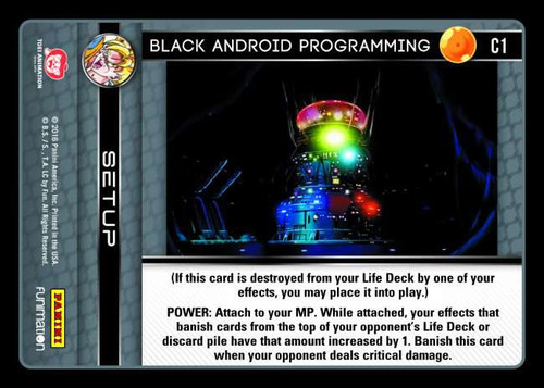 Dragon Ball Z CCG Vengeance Common Black Android Programming C1