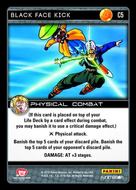 Dragon Ball Z CCG Vengeance Common Black Face Kick C5