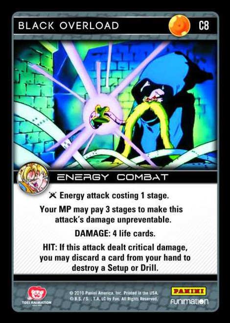 Dragon Ball Z CCG Vengeance Common Black Overload C8