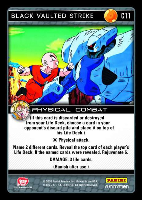 Dragon Ball Z CCG Vengeance Common Black Vaulted Strike C11