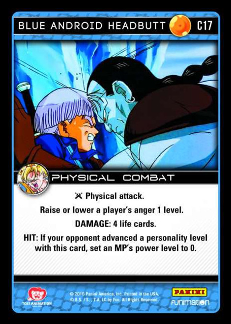 Dragon Ball Z CCG Vengeance Common Blue Android Headbutt C17