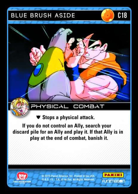 Dragon Ball Z CCG Vengeance Common Blue Brush Aside C18
