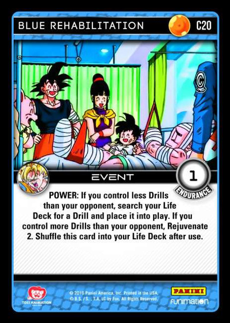 Dragon Ball Z CCG Vengeance Common Blue Rehabilitation C20
