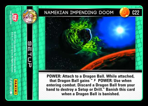 Dragon Ball Z CCG Vengeance Common Namekian Impending Doom C22