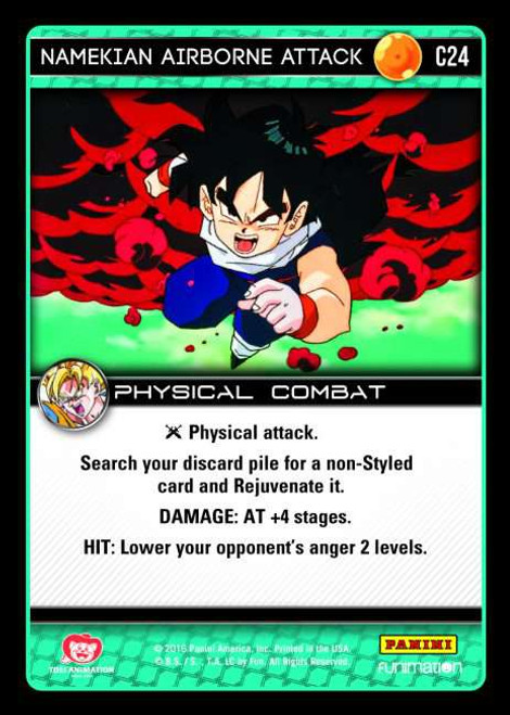 Dragon Ball Z CCG Vengeance Common Namekian Airborne Attack C24