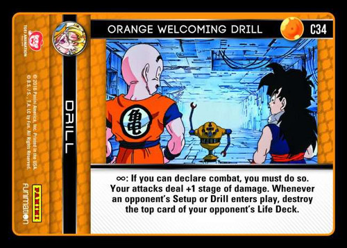 Dragon Ball Z CCG Vengeance Common Orange Welcoming Drill C34