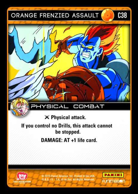 Dragon Ball Z CCG Vengeance Common Orange Frenzied Assault C38