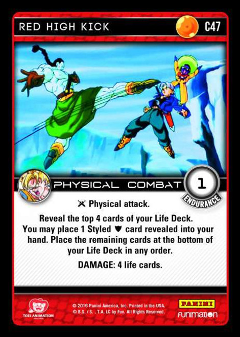 Dragon Ball Z CCG Vengeance Common Red High Kick C47